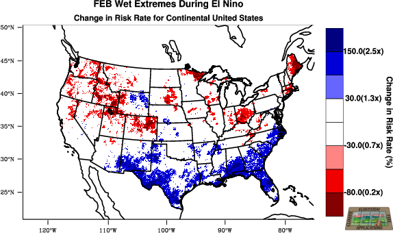 sample El Nino risk map