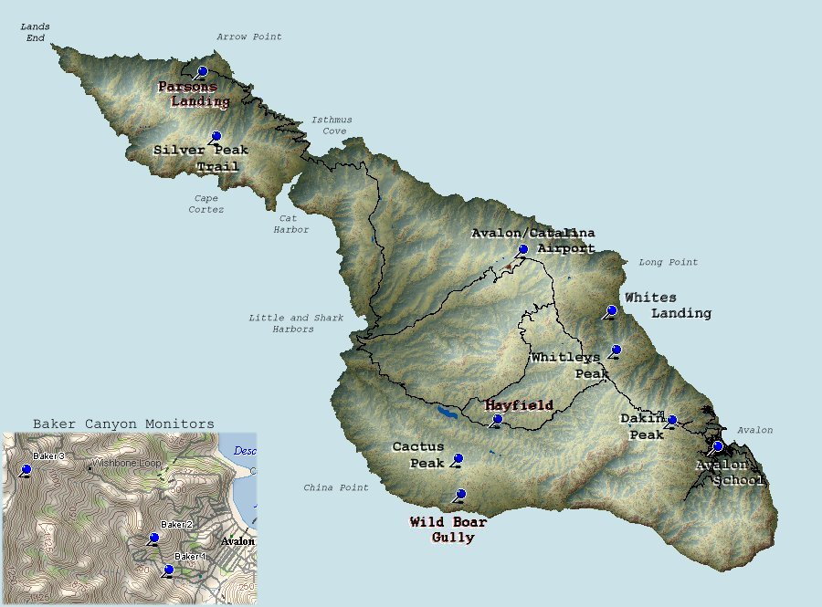 Download this Santa Catalina Island Climate Stations picture